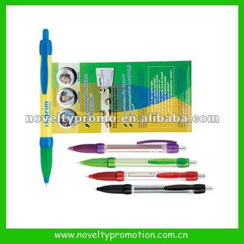 Plastic Ballpoint Pen With Banner