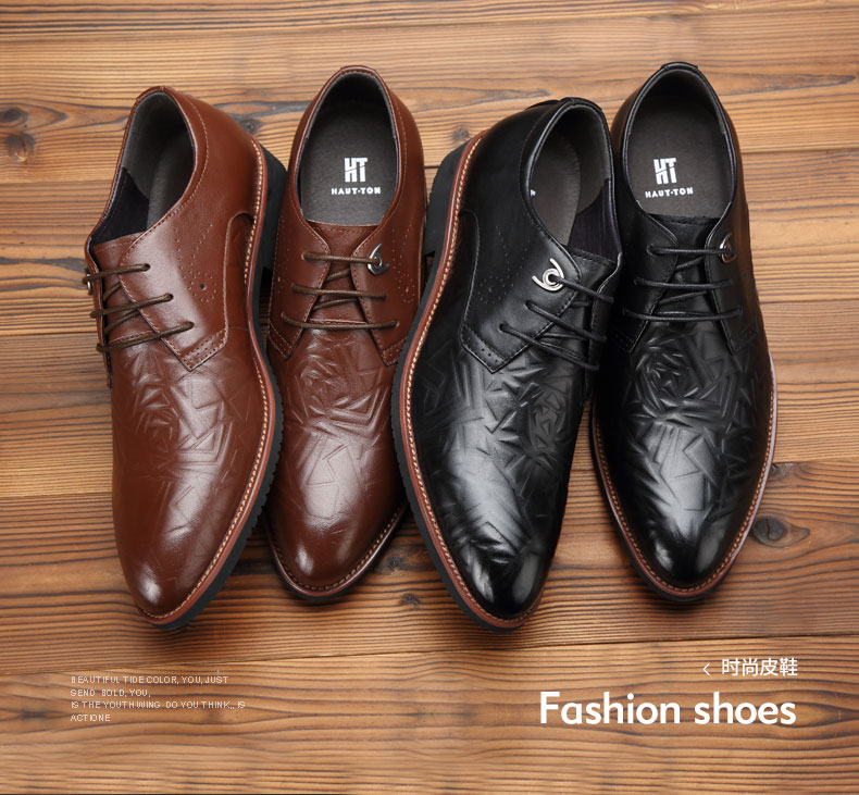 Designer Italian men pointed toe dress office shoes
