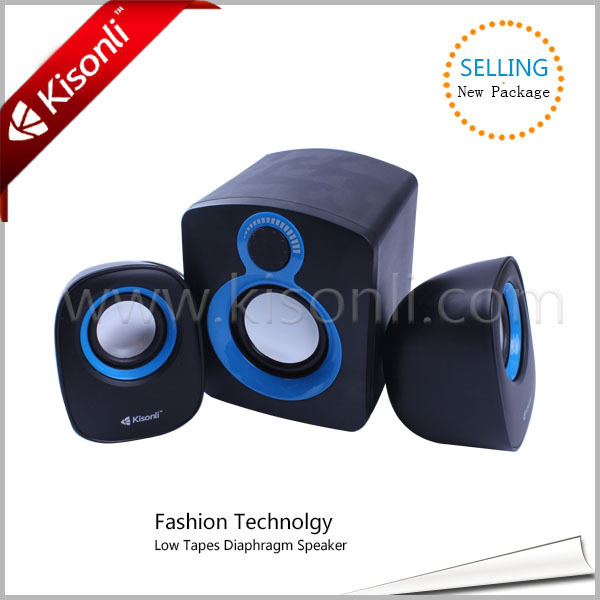 Portable Compact 2.1 Computer Amplifier Speaker Easy Adjust Volume