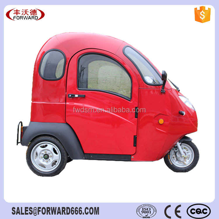 Electric Motorcycle Adult Closed Cheap Car In China