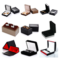 2016 In stock Cufflink box For Men's Jewelry Gift Box