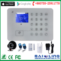 2016 New arrival GSM alarm system with TFT Color touch screen Display widely applied in the shop,office,warehouse