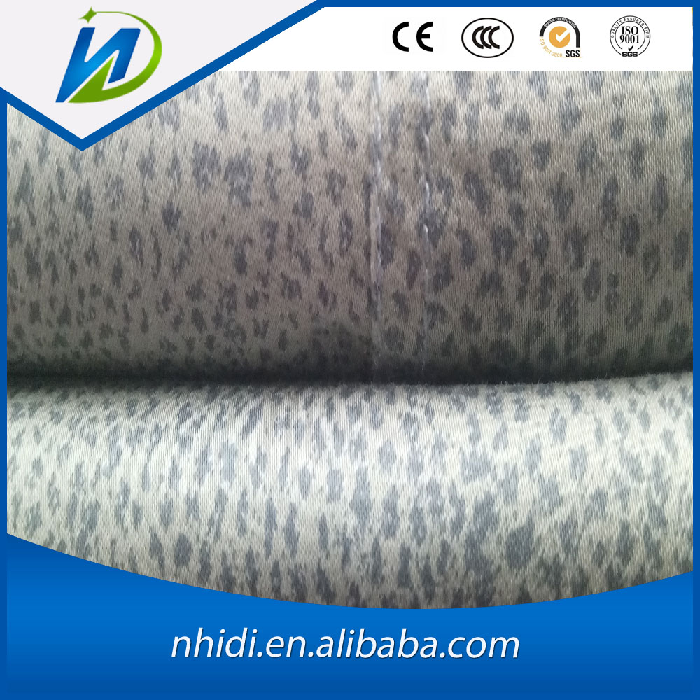 97% cotton 3% spandex enzyme washing finishing print satin fabric