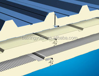 polyurethane( pu) sandwich galvanized roof panel from Qingdao baixingyuan thermal insulation material Co,ltd