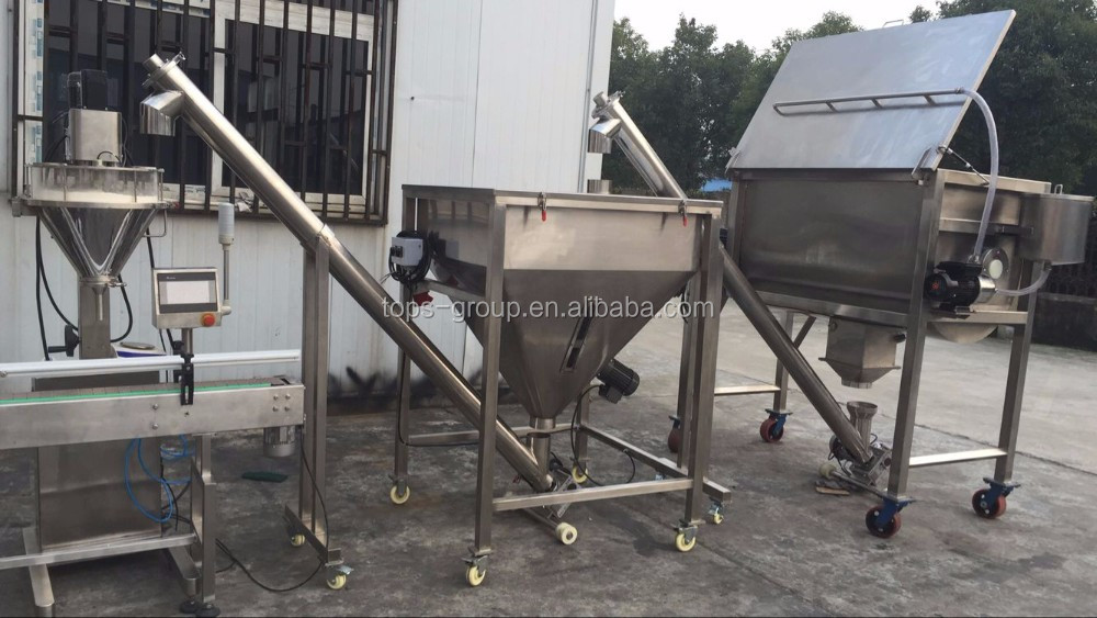 Shanghai manufacturer 500g whey protein powder auger filling machine with SS 304