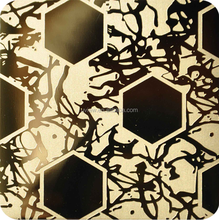 Etched finish stainless steel decorative sheets
