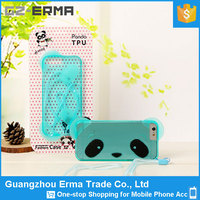 Cute Panda Clear Transparent Gloss Candy TPU Skin Case Cover for Apple iPhone 6 6s