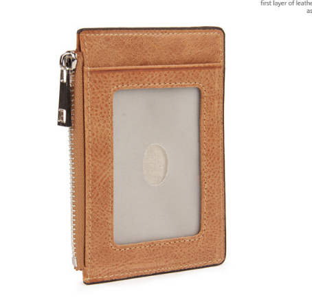 BOSHIHO High Quality Crazy Horse Leather Card Case Wallet Customized Leather Credit Card Wallet