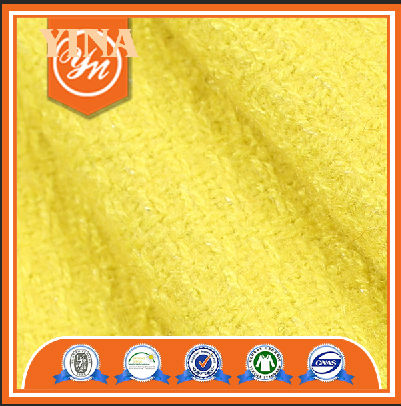 Classic plain and hot sells women yellow wool fabric