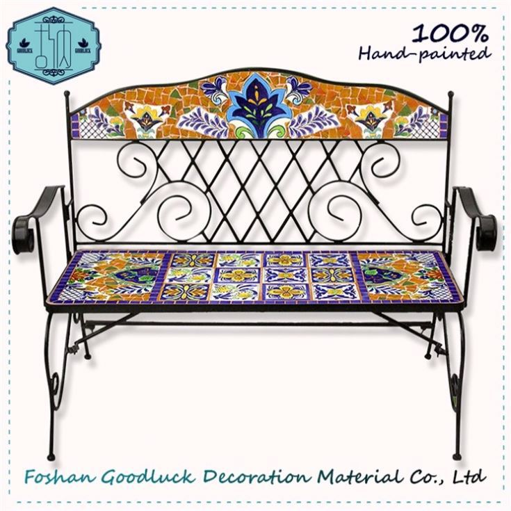 More Pattern Bench Anodized Aluminum Lounge Luxury Outdoor Furniture