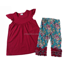 cheap baby girls clothes summer kids clothes red top with matching shorts clothing girls