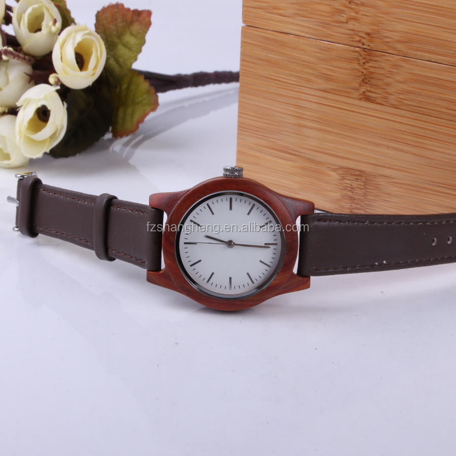 Wholesale wood bezel customized personalize watch with your logo
