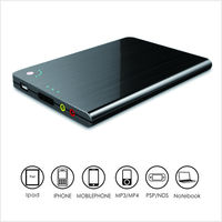 Portable 1600mAh Multi-Voltage Charger External Battery Backup Power Bank for Mobile Phone,Tablet, laptops