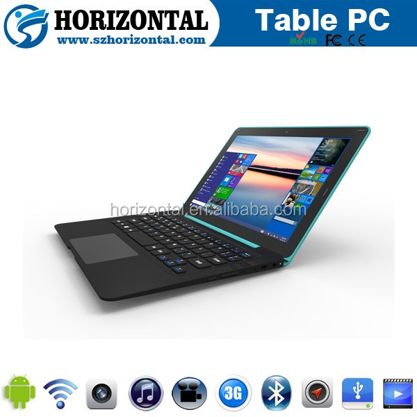2016 New 10.1 inch win10 yoga laptop with keyboard free sample Tablet Pc