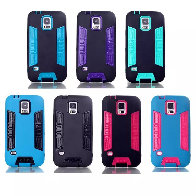Mobile Accessory Hot New Products for 2014 Hight Quality PC+TPU Cell Phone Cas for Samsung Galaxy S5 i9600 Bulk Buy from China
