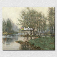 Handmade natural scenery oil painting
