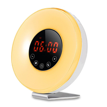 6639FY LED sunlight digital alarm clock sunrise wake up light