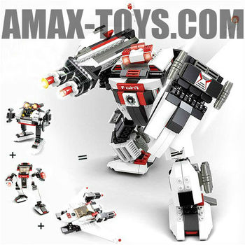 bd-7530337 plastic toys brick intelligent toys brick robot 3 in 1(313pcs)