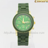 New 2014 Hot Sell Top Brand Fashion New Arrive Diamond Plastic Women Bracelet Watches / 6 Color