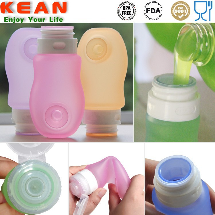 Convenient Silicone Squeeze Bottle with No Drip Valve