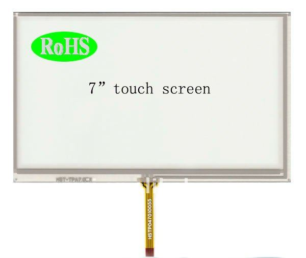 4-wire 7 inch LCD resistive touch screen with High bright Blunt machine and car