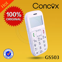 Elderly gps phone low cost mobile phone with gps GS503