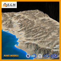 miniature 3d physical topographic model