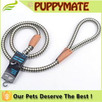 High quality nylon dog leash/ Pet Dog Nylon Adjustable Loop Slip Leash Rope Lead 1.2m