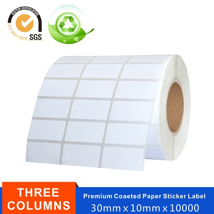 Printed Self Adhesive Cast Coated Barcode Label Paper