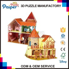 Christmas gift autumn doll house diy toy paper 3d puzzle house