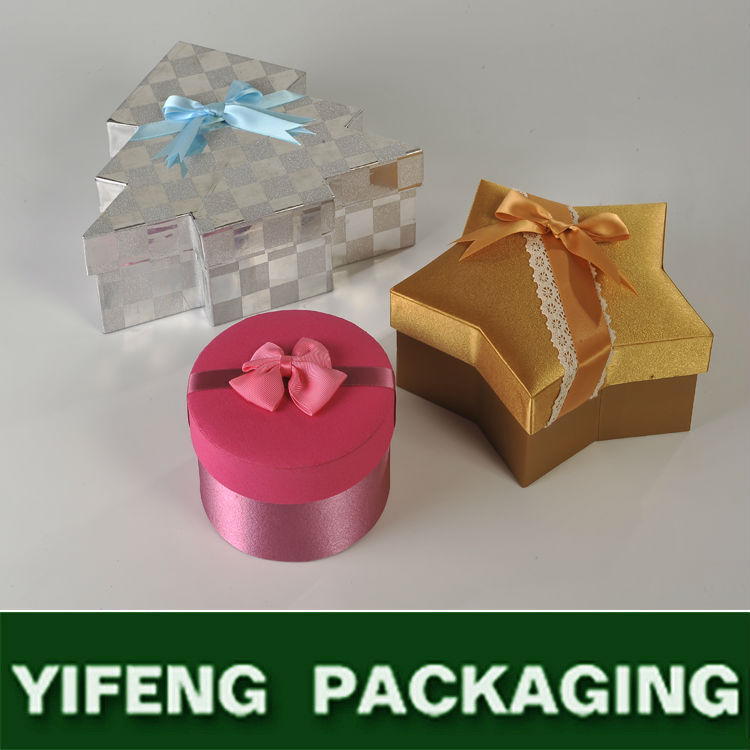 guangzhou wholesale bowknot silk ribbon cylinder gift box for wedding invitations
