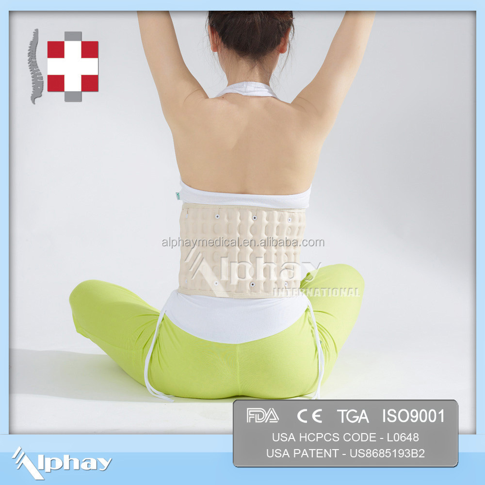 China well known air inflation spine back brace traction belt