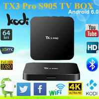 Hot Selling Amlogic S905X TX3 PRO Android TV Box 1GB 8GB KODI 16.1 Loaded Android 6.0 Smart TV Box
