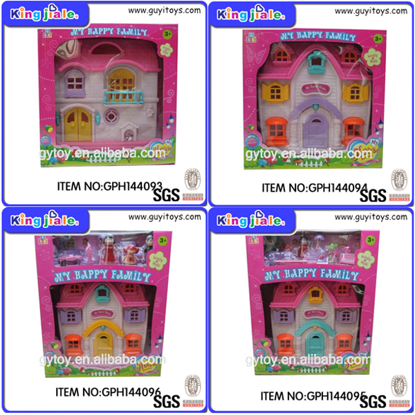 Wooden DIY children's small doll house and mini furniture toy set , miniature doll house , doll house