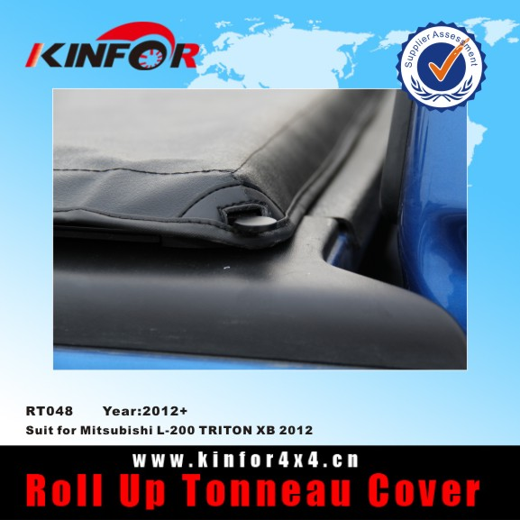 Soft rollup bed cover for Mitsubishi L-200 TRITON XB 2012