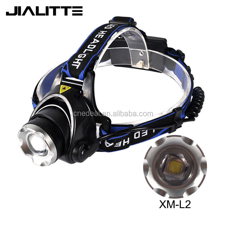 Jialitte <strong>H001</strong> 5W XML L2 2000lm High Power LED Zoomable Headlight 2X18650 Rechargeable Convex Lens Headlamp