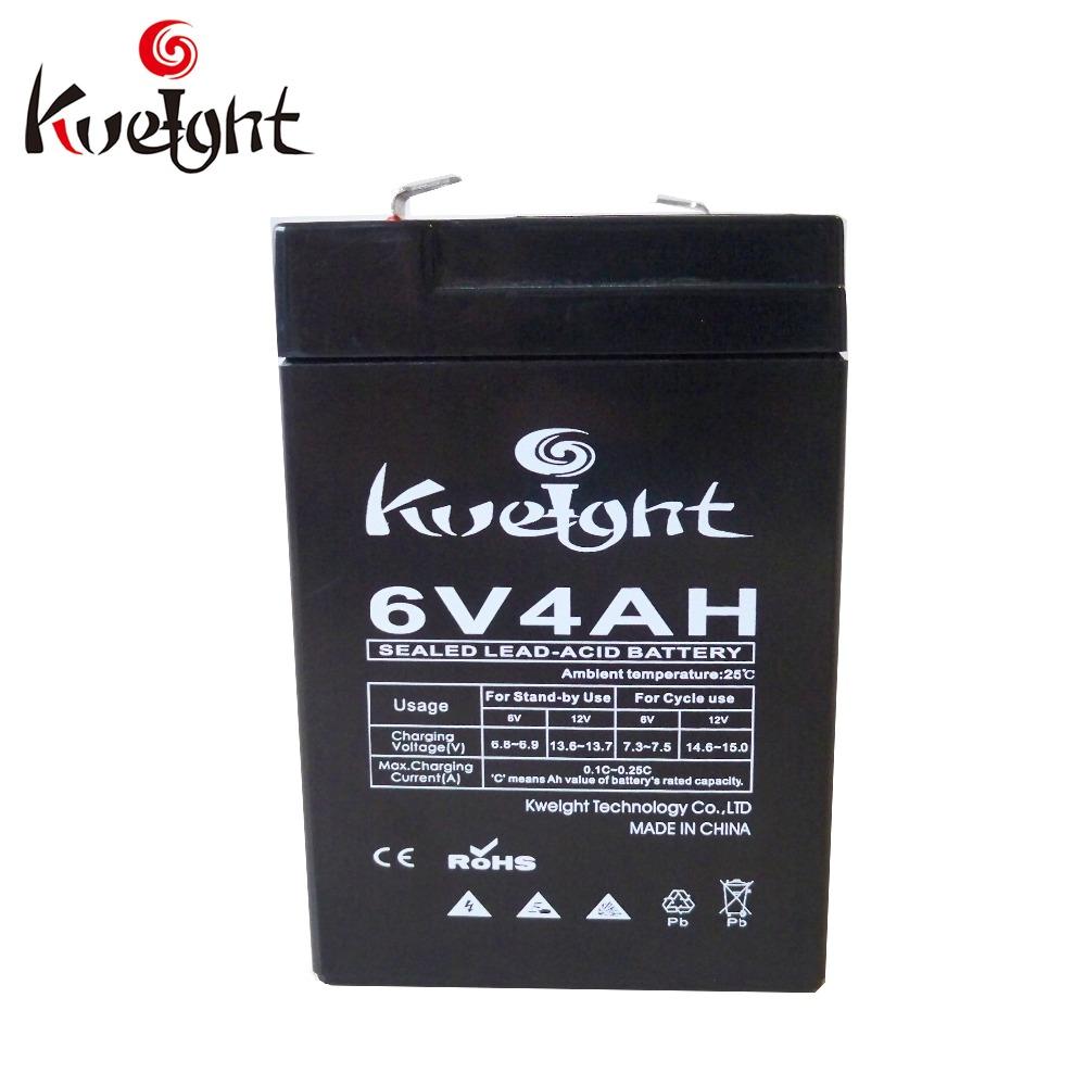 Kweight lead acid battery rechargeable 6V 4AH in storage batteries for e-bike