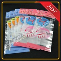 New design opp self adhensive header pouch/self adhesive laminating pouches