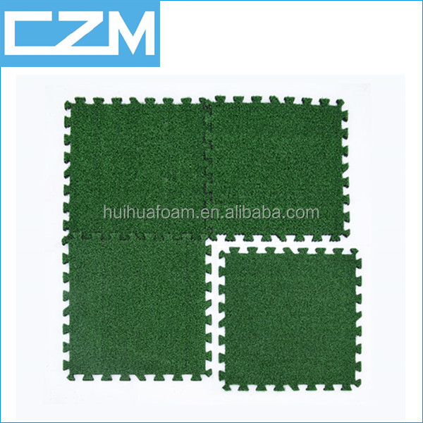 Outdoor EVA artificial grass mat grass floor mat with holes