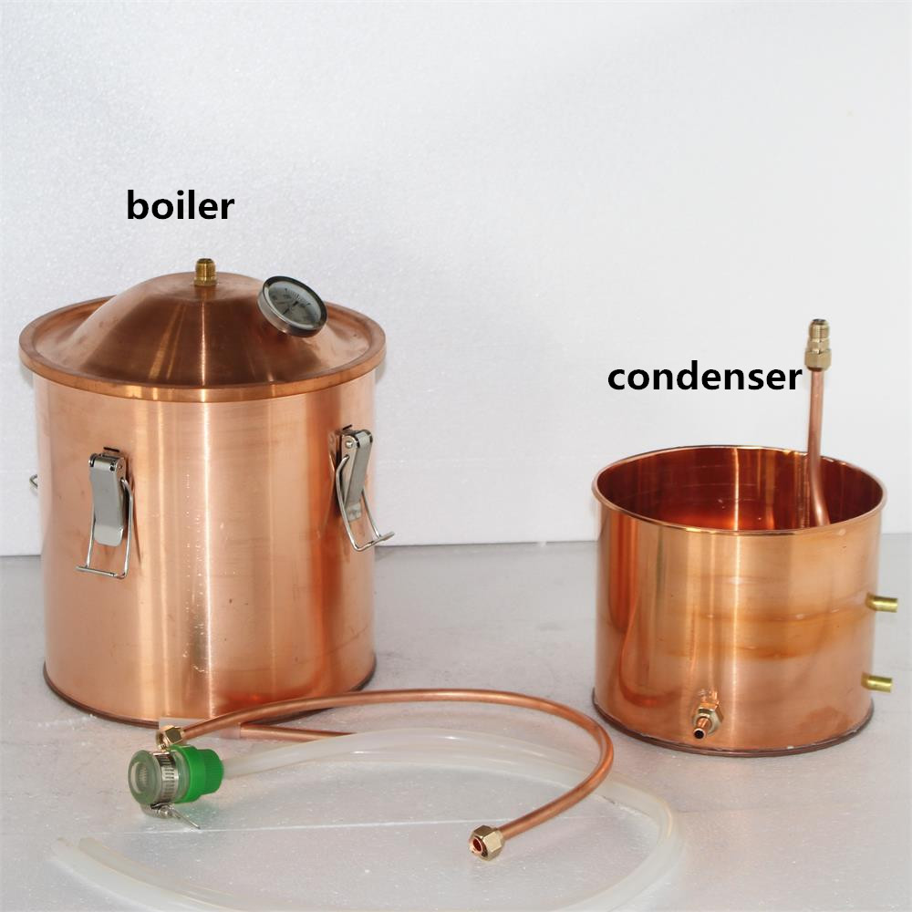 High quality red copper home alcohol distillation kit distillery equipment