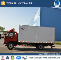 Refrigerated van truck , meat hook refrigerator truck