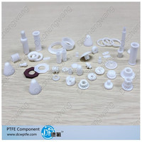 CNC turning machined hardware part / PTFE PP PEEK PET-P HDPE