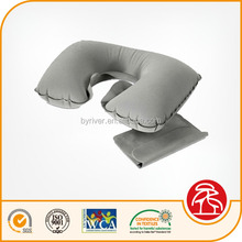 Felted Flocking PVC Folding Inflatable Travel Body Neck Pillow