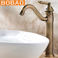 Art series dual handle 24K golden wash basin mixer made in China