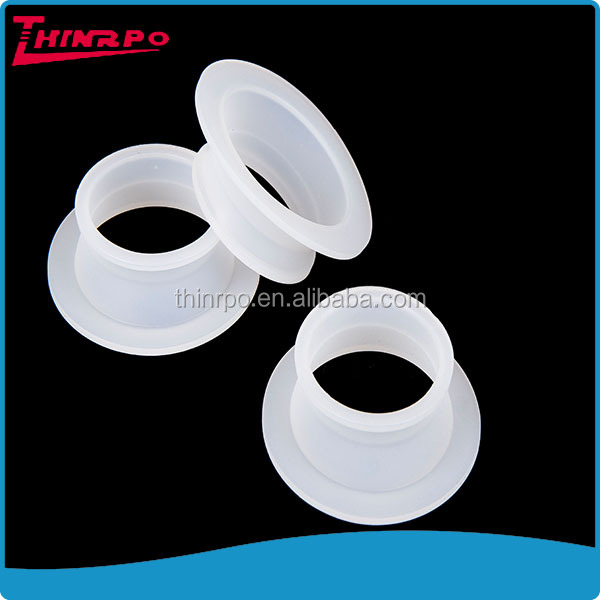 OEM white round flat clear silicone white spacer rubber gasket washer and spacer