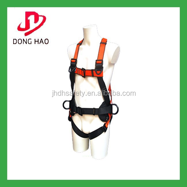 100%polyester high quality full body safety harness with lanyard