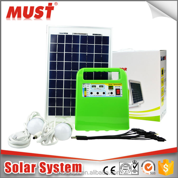 factory outlet 12V 7Ah outdoor portable solar panel system 10W small solar lighting system