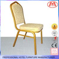 XM-A109 Modern luxury style restaurant metal chair with aluminum frame
