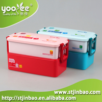 2-Tiers Bento PP Lunch Box Food Picnic Container Case Storage Lunchbox Office