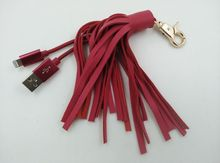 new style USB 3.0 cable with leather tassels for Iphone6